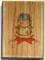 Toddler Bowl Wood Backed Stamp by Jolly Nation