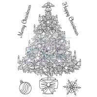 Traditional Christmas Tree Stamp Set Sweet Dixie