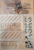 Under Construction Mask That Special Touch of...