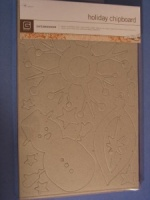Undressed Holiday Chipboard - Basic Grey