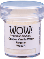 Opaque Vanilla White Embossing Powder WL03R
