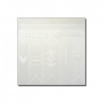 Vellum Ribbon Bands Foiled White Moorish Collection