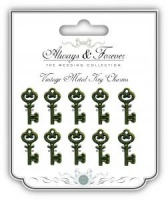 Vintage Metal Key Charms AFMCHRM001