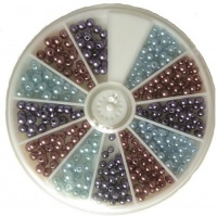 Wildflower Wood Pinwheel Pearl Beads LA00023