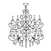 Wrought Iron Chandelier WICHAND-E