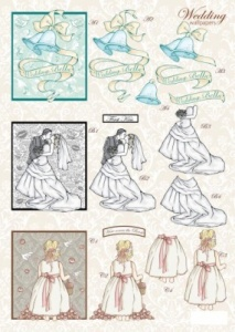Wedding Bells Die-cut Decoupage Sheet Line840