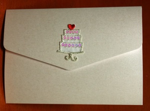 Wedding Cake With Sequins Self Adhesive Motif Syntego BN7077