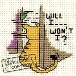 Will I...Won't I Biscuit The Cat Cross Stitch Kit