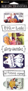 Witching Time Quotes - Rub-On Transfers - Daisy D's