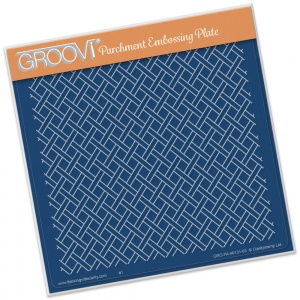 Woven Trellis Groovi Plate A5 Clarity Stamps