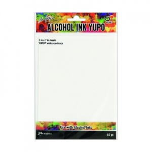 Alcohol Ink Yupo Card White 5'' x 7'' 10 sheets